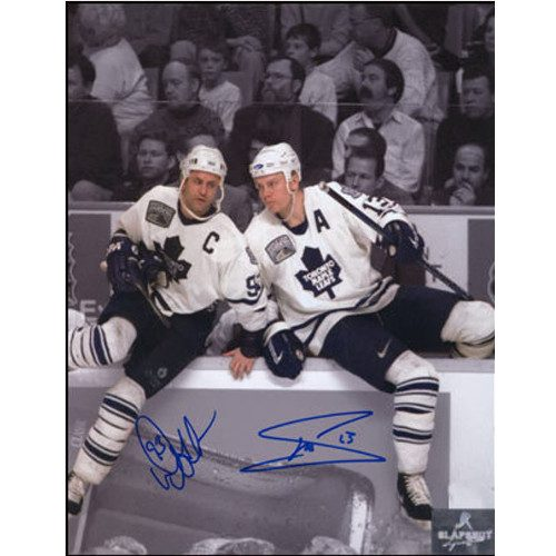 Doug Gilmour Mats Sundin Toronto Maple Leafs Dual Signed Spotlight 8x10 Photo|Doug Gilmour & Mats Sundin Toronto Maple Leafs Dual Signed Spotlight 8x10 Photo
