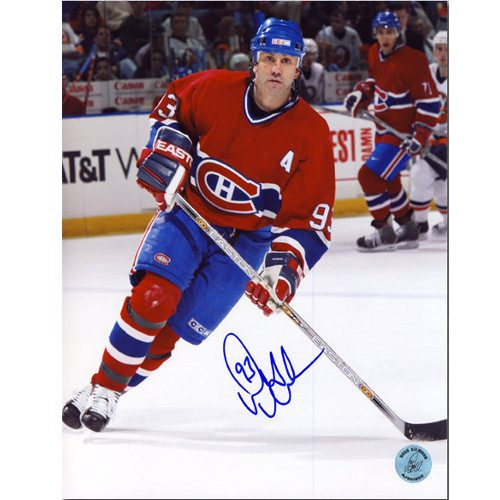Doug Gilmour Montreal Canadiens Last Season Signed Action 8x10 Photo