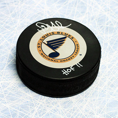 Doug Gilmour St. Louis Blues Signed Hockey Puck with HOF Inscription