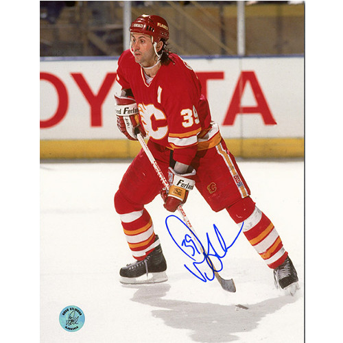 Doug Gilmour Calgary Flames Signed 8x10 Action Photo