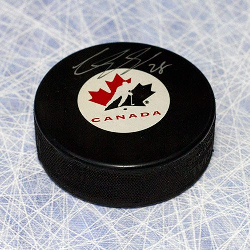 Claude Giroux Team Canada Signed Hockey Puck