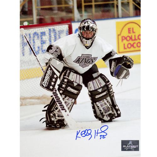 Kelly Hrudey LA Kings Signed Hollywood Mask 8x10 Photo