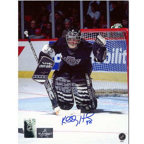 Kelly Hrudey LA Kings Signed Goalie 8x10 Photo