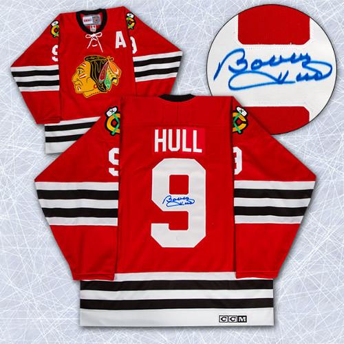 Bobby Hull Jersey Signed Chicago Blackhawks Vintage Hockey Jersey