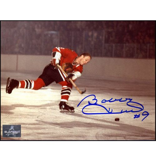 Signed Bobby Hull Picture Chicago Blackhawks Record 51st Goal 8x10