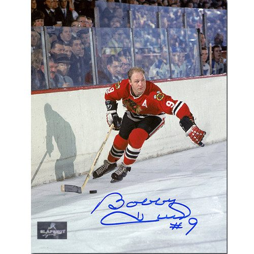 Signed Bobby Hull Chicago Blackhawks Golden Jet 8x10 Photo