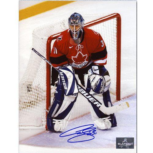Curtis Joseph Autographed Photo-Team Canada 2002 Olympics 8x10