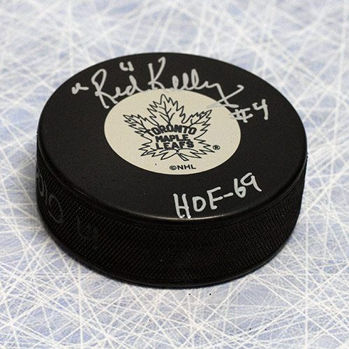 Red Kelly Toronto Maple Leafs Signed Hockey Puck