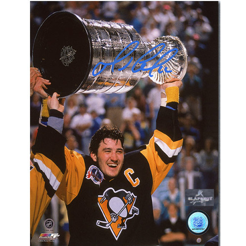 Mario Lemieux 1991 Stanley Cup Pittsburgh Penguins Signed 8x10 Photo
