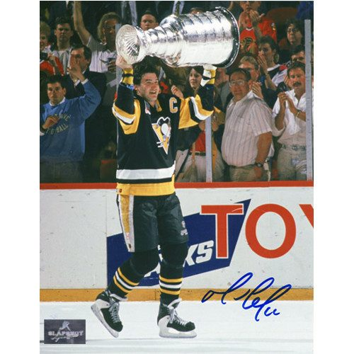 Mario Lemieux 1992 Stanley Cup Pittsburgh Penguins Signed 8x10 Photo