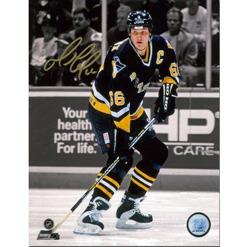 Mario Lemieux Pittsburgh Penguins Hockey Spotlight Signed 8x10 Photo