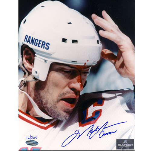 Mark Messier New York Rangers Signed 8x10 Bloodied Photo