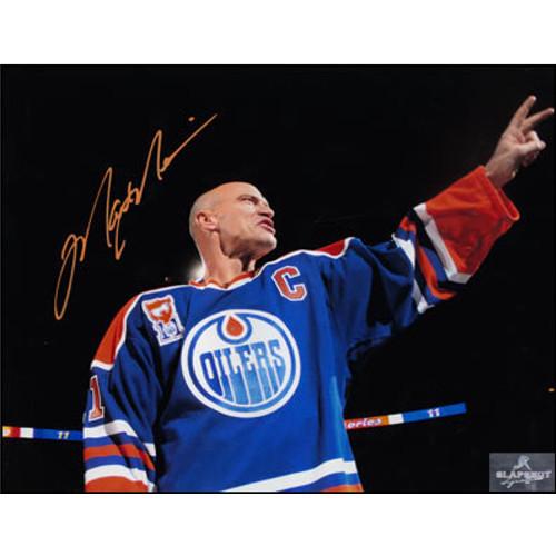 Mark Messier Edmonton Oilers Banner Retirement Signed 8x10 Photo