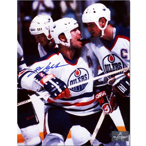 Mark Messier Signed Photo Edmonton Oilers Celebrating with Gretzky
