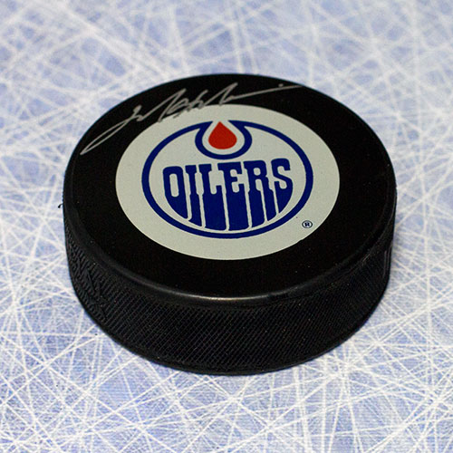 Mark Messier Signed Puck Edmonton Oilers Hockey Puck