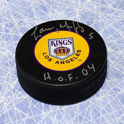 Larry Murphy Kings Retro Logo Signed Puck