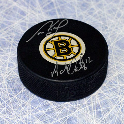 Cam Neely Adam Oates Boston Bruins Dual Signed Legendary LinematesHockey Puck