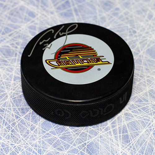Cam Neely Signed Puck Vancouver Canucks