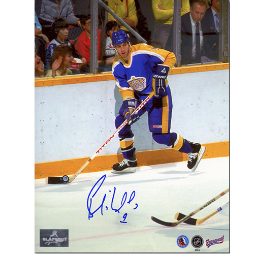 Bernie Nicholls LA Kings Autographed Photo 8x10