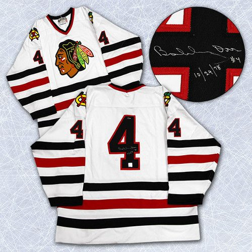 Bobby Orr Chicago Blackhawks Signed Last Game Hockey Jersey #/144