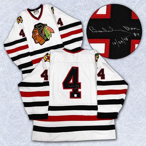 Bobby Orr Chicago Blackhawks Signed Last Game Hockey Jersey #/144