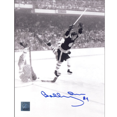 Bobby Orr Autographed Picture Boston Bruins Vintage Action 8x10 GNR|Bobby Orr Boston Bruins Vertical Winning Goal Signed 8x10 Photo COA: GNR