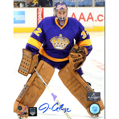 Jonathan Quick Signed LA Kings Retro Jersey 8x10 Photo