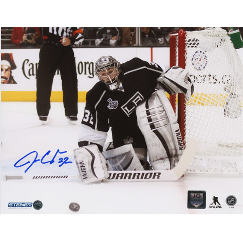 Jonathan Quick Signed Photo-LA Kings Cup Finals 8x10