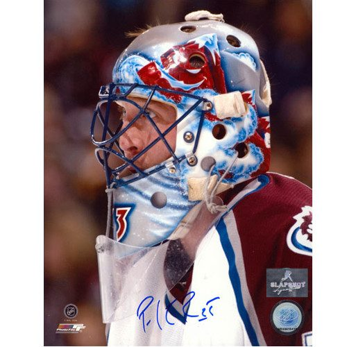 Patrick Roy Signed Picture Colorado Avalanche Goalie Mask Close-up