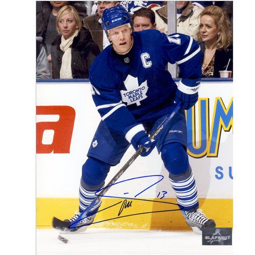 Mats Sundin Autograph Photo Toronto Maple Leafs Last Game as a Leaf