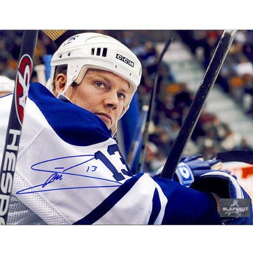 Mats Sundin Autograph Photo Toronto Maple Leafs Bench Stare 8x10