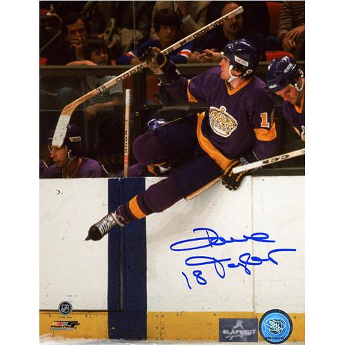 Dave Taylor LA Kings Purple Jersey Signed Photo 8x10