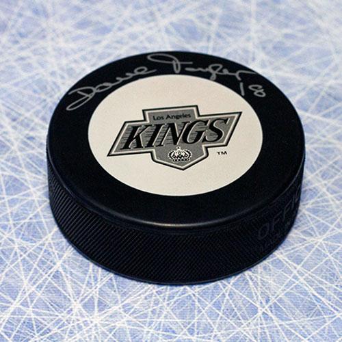 Dave Taylor Kings Signed Hockey Puck