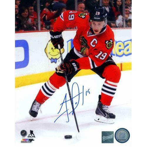 Jonathan Toews Signed Photo Chicago Blackhawks Action 8x10 Photo