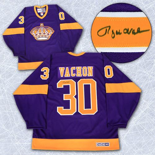 Rogie Vachon Jersey-Autographed LA Kings Retro CCM Jersey
