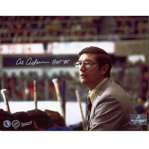 Al Arbour Coach-New York Islanders Signed 8x10 Photo