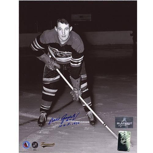 Bill Gadsby Signed Chicago Blackhawks Hockey Photo