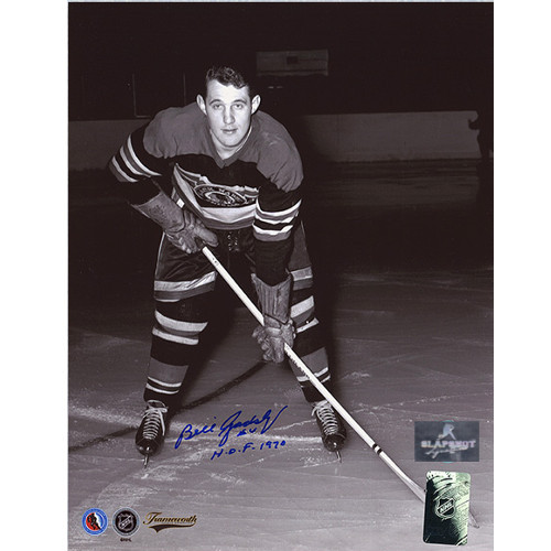 Bill Gadsby Signed Chicago Blackhawks Hockey Photo