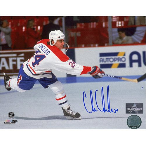 Chris Chelios Canadiens Shooting Signed 8x10 Photo