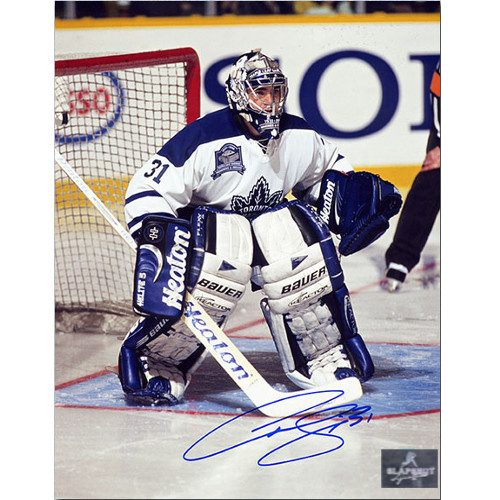 Curtis Joseph Leafs Final Game MLG Signed 8x10 Photo