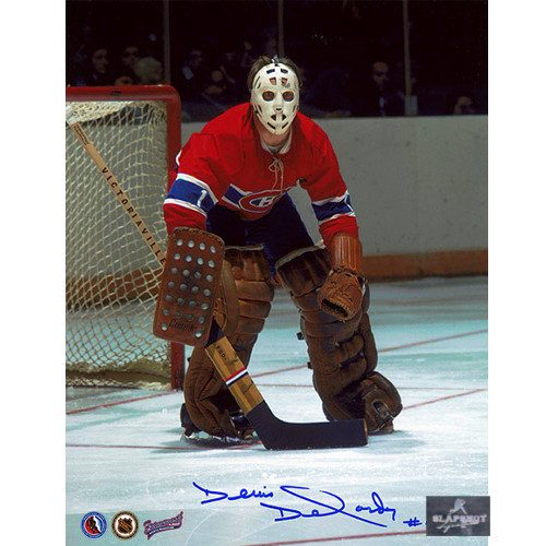 Denis Dejordy Signed Montreal Canadiens Hockey Photo