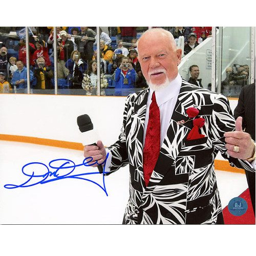 Don Cherry Signed Picture On Ice Red Carpet-Hockey Night In Canada 8x10 Photo