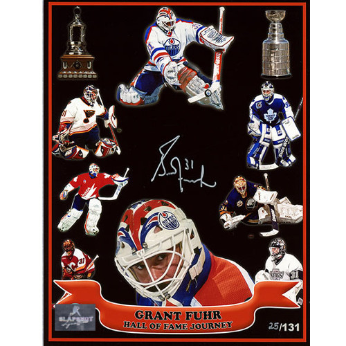 Grant Fuhr Hall Of Fame Journey Autographed 8x10 Photo Limited #/131 Print