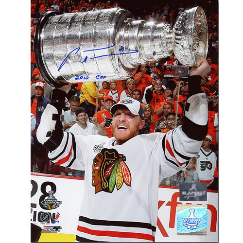 Marian Hossa Stanley Cup 8x10 Photo Blackhawks Signed 2010 Cup