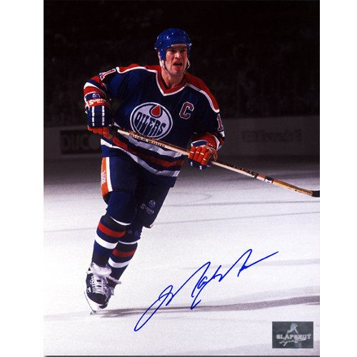 Mark Messier Highlights Edmonton Oilers Spotlight Signed Photo