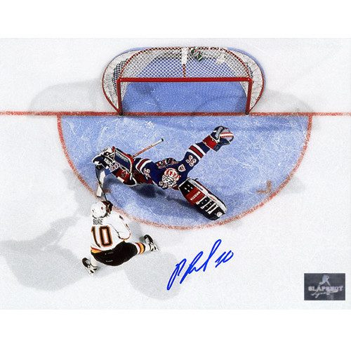 Pavel Bure Canucks Autographed 1994 Cup Finals Breakaway 8x10 Photo