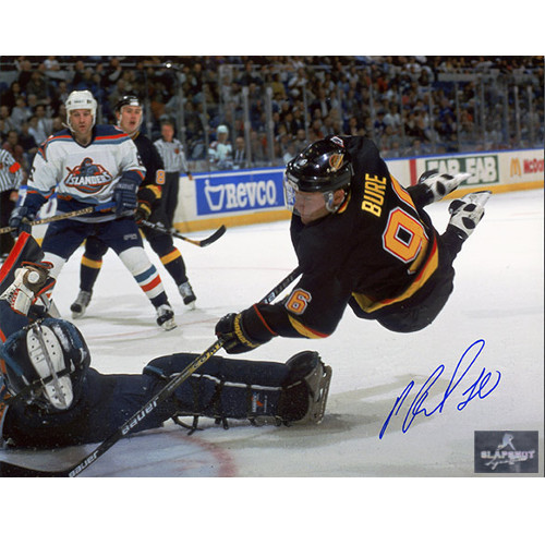 Pavel Bure Signed Photo-Vancouver Canucks Diving Goal 8x10 Photo