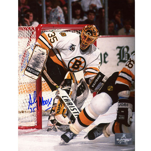 Andy Moog Autograph Boston Bruins 8X10 Photo