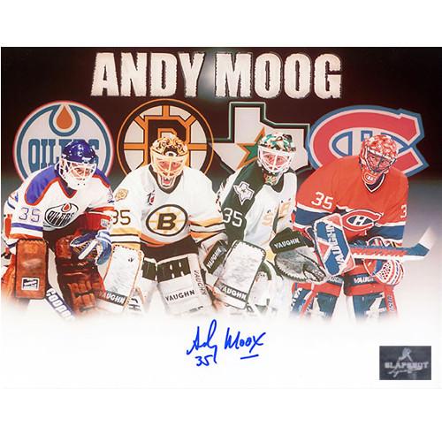 Andy Moog Autographed Career Journey 8X10 Photo