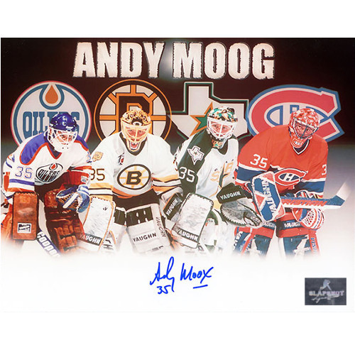 Andy Moog Autographed Career Journey 8X10 Photo